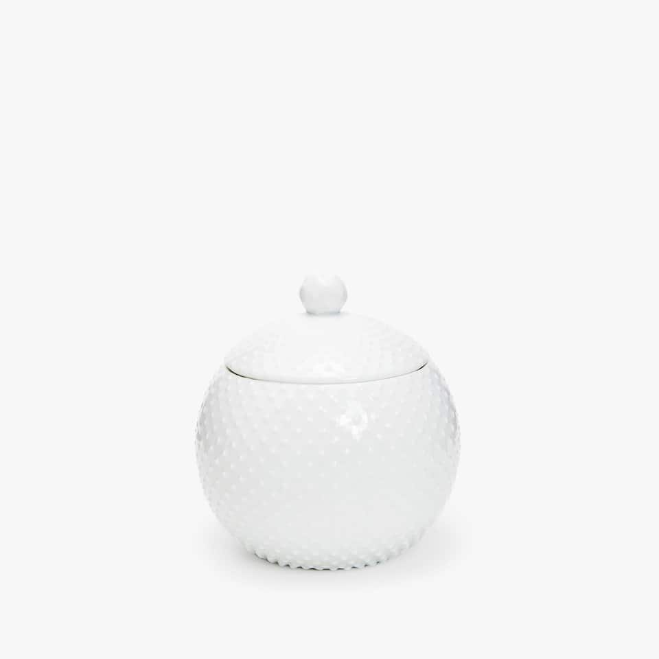 RAISED DOTS CERAMIC JAR