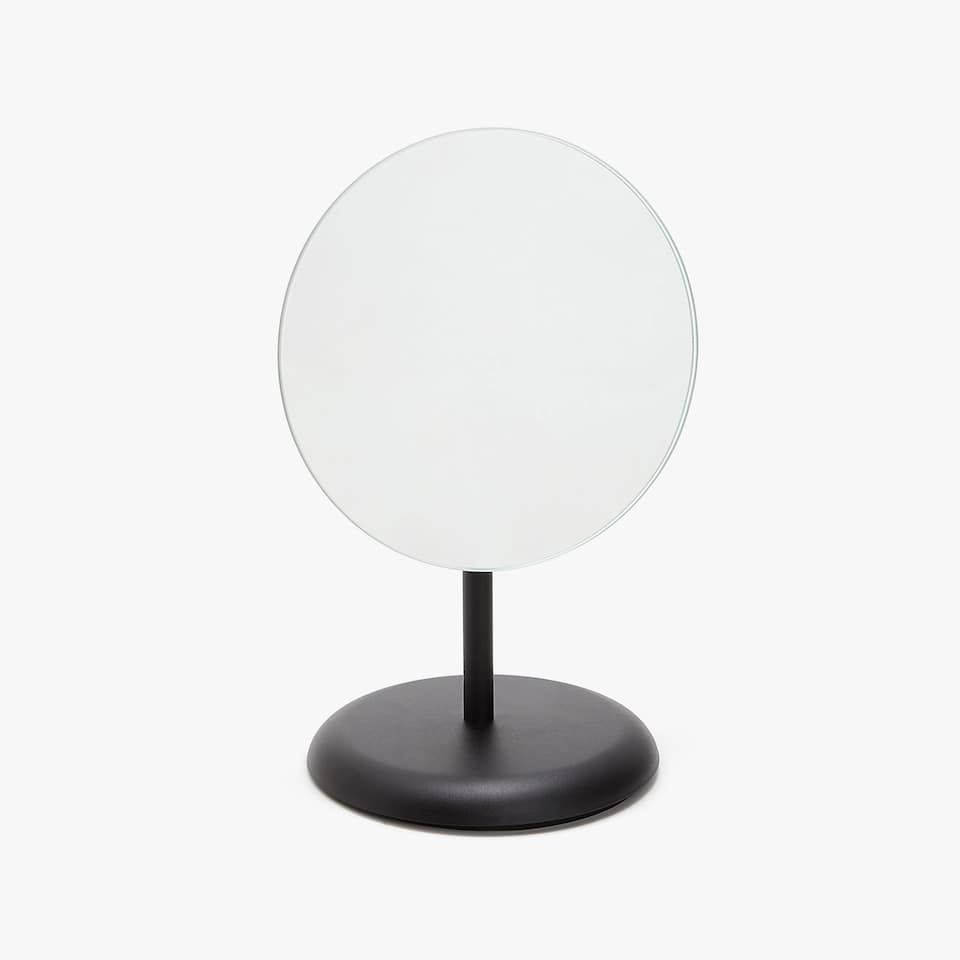 MIRROR WITH METAL BASE