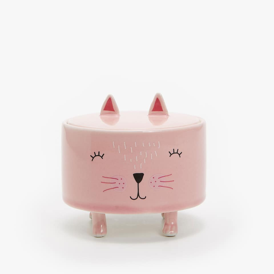 CAT CERAMIC JAR