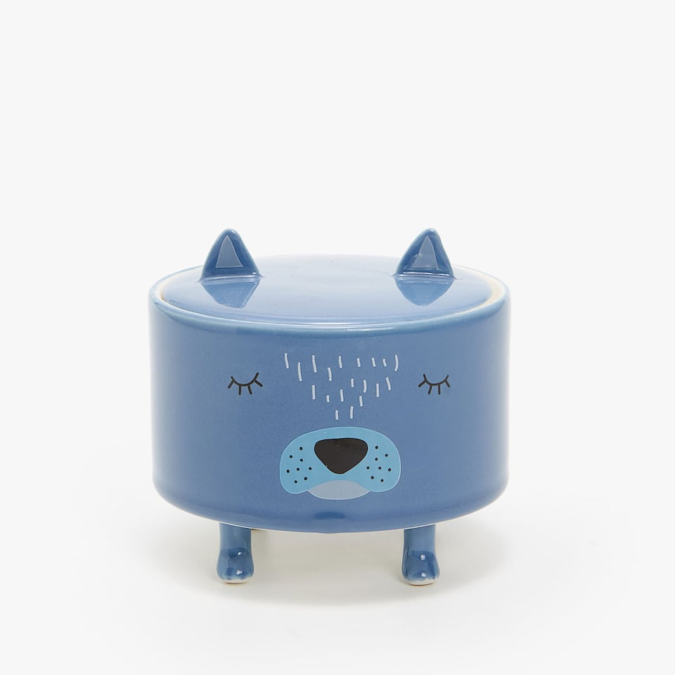 DOG CERAMIC JAR