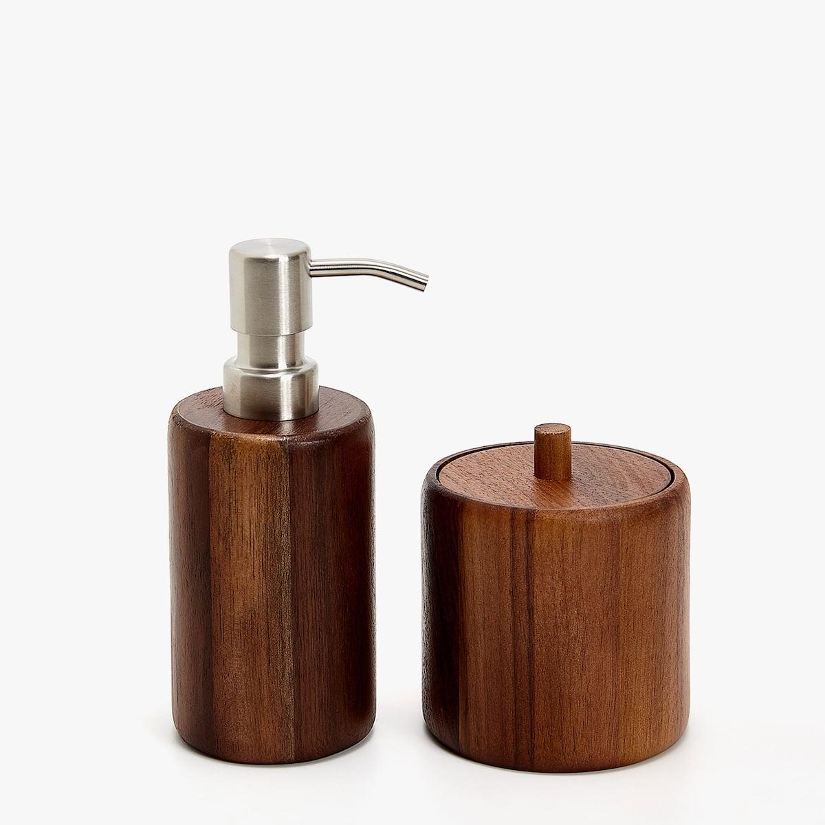image 6 of the product dark wood dispenser - Wooden Bathroom Accessories Uk