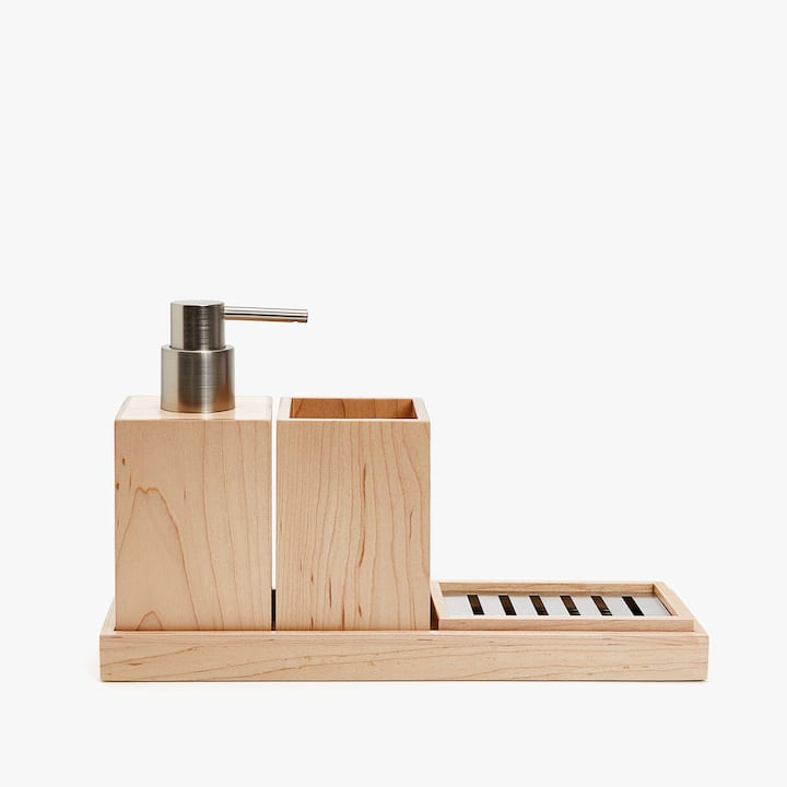 Image Of The Product WOODEN BATHROOM SET