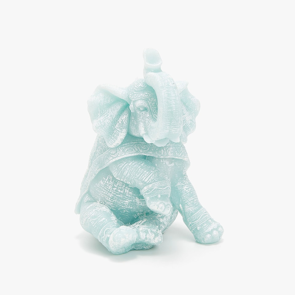 SEATED ELEPHANT CANDLE