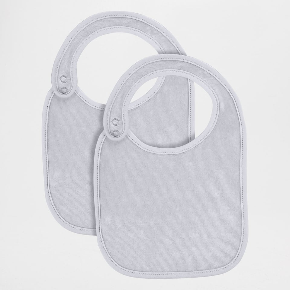 VELOUR BIB WITH SIDE FASTENING (PACK OF 2)