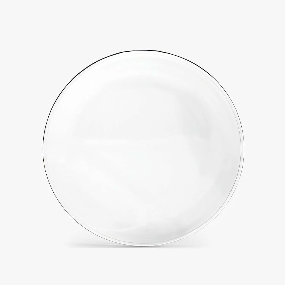 ROUNDED RIM GLASS CHARGER PLATE
