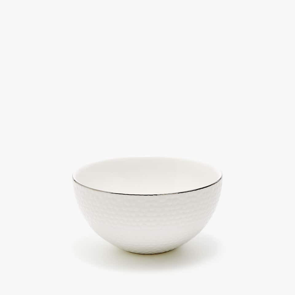 MINI BOWL PORCELANA TEXTURA