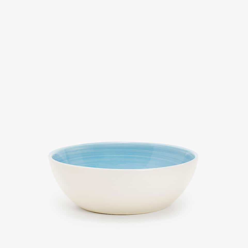 EARTHENWARE BOWL WITH SPIRAL DESIGN