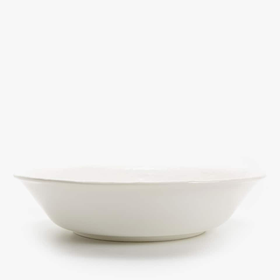 TEXTURED EARTHENWARE SALAD BOWL