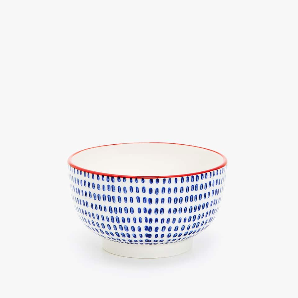 MINI BOWL PORCELANA ESTAMPADA