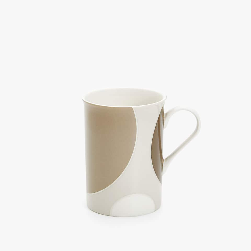GEOMETRIC DESIGN BONE CHINA MUG