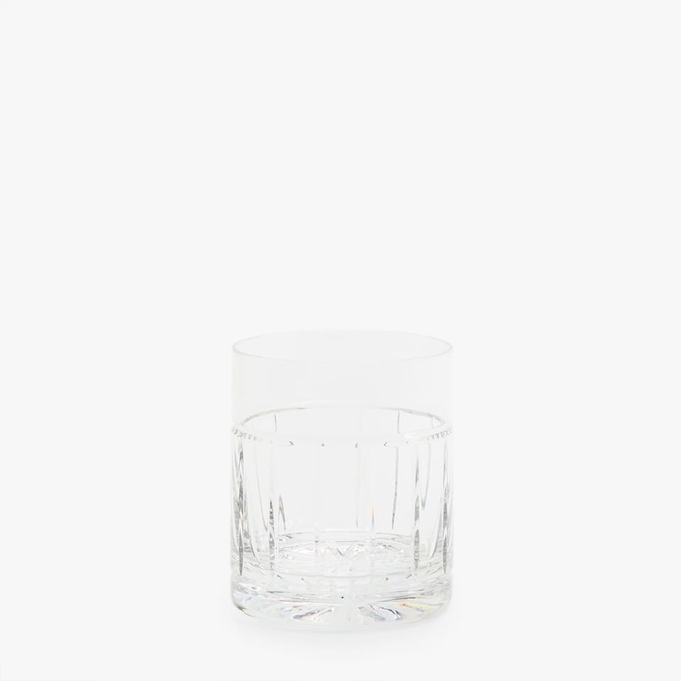 CUT CRYSTAL WATER TUMBLER