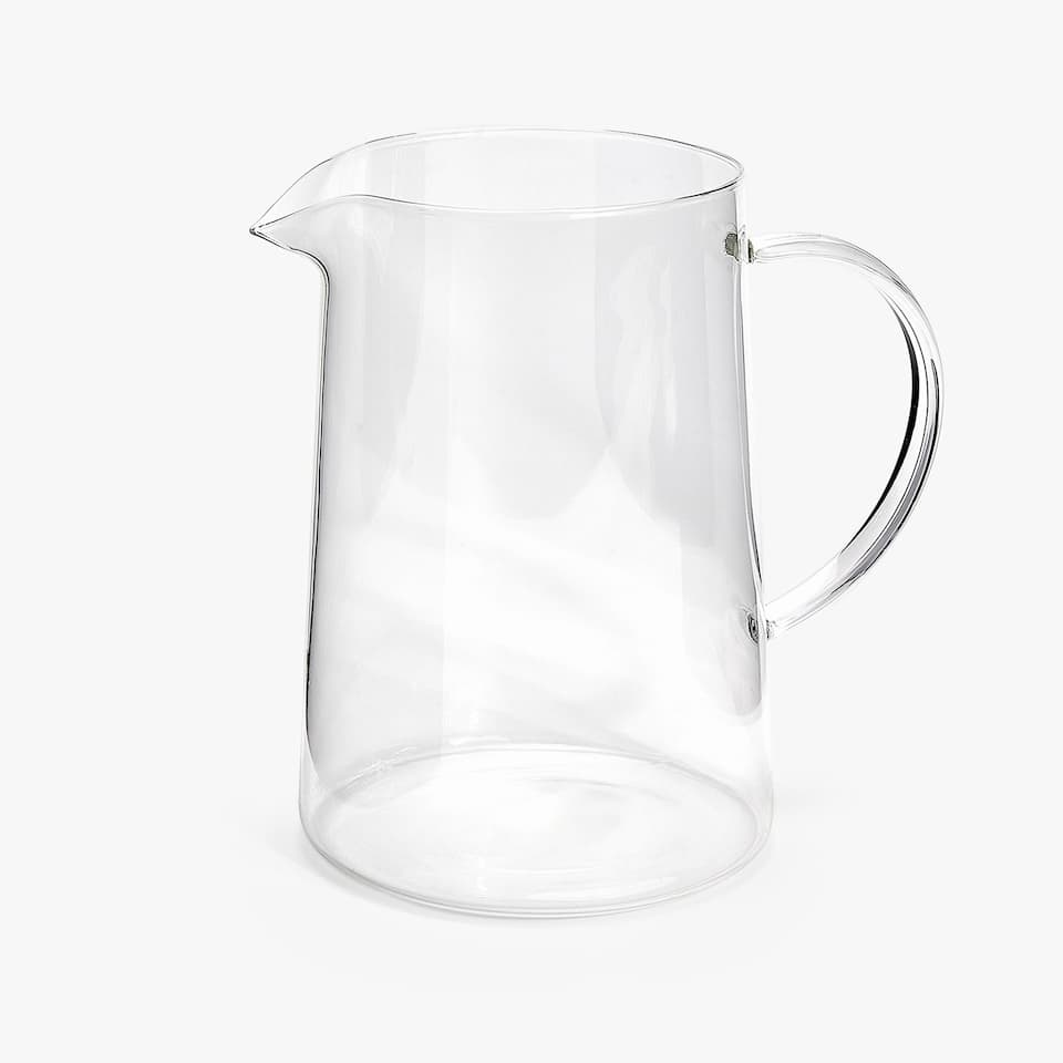 BOROSILICATE GLASS JUG WITH HANDLE