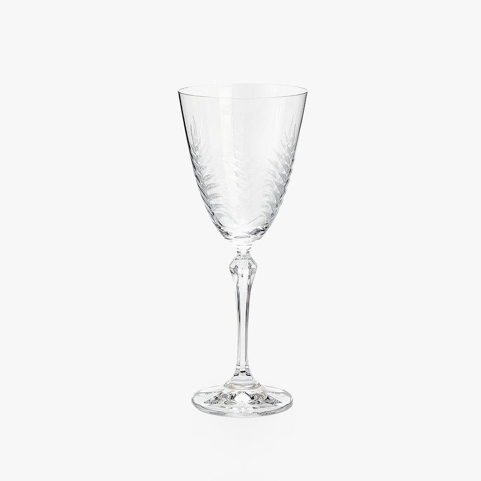 FERNS PANTOGRAPH CRYSTALLINE WINE GLASS