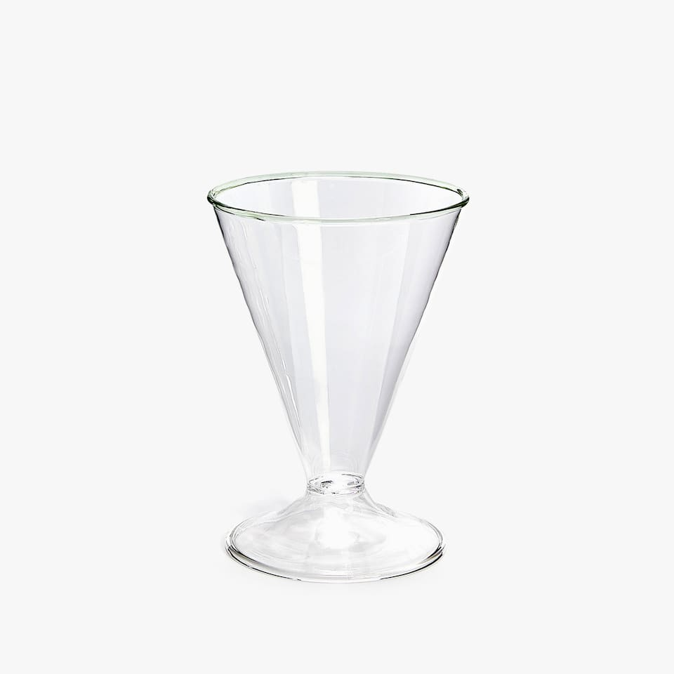 COLOURED RIM BOROSILICATE WINE GLASS