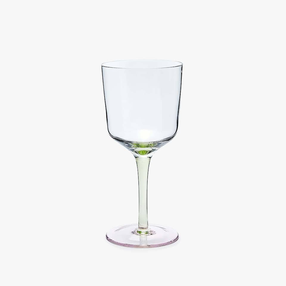 THREE-TONE WINE GLASS