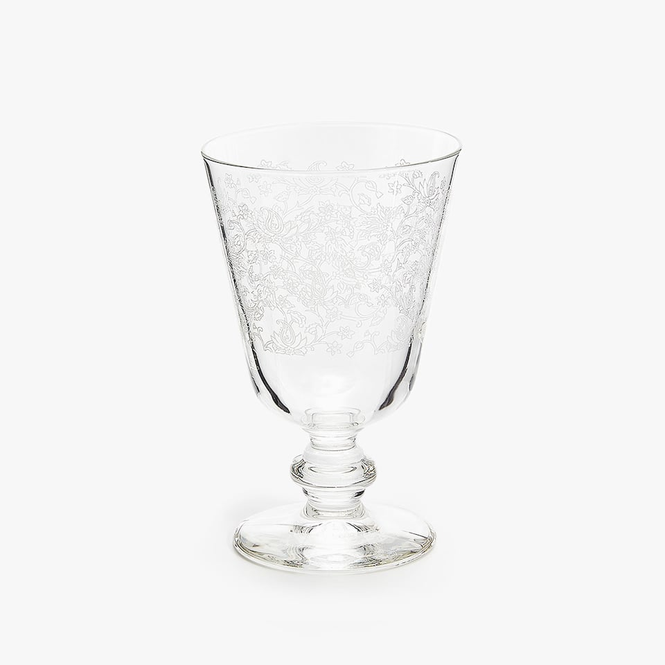 WHITE TRANSFER DESIGN WINE GLASS
