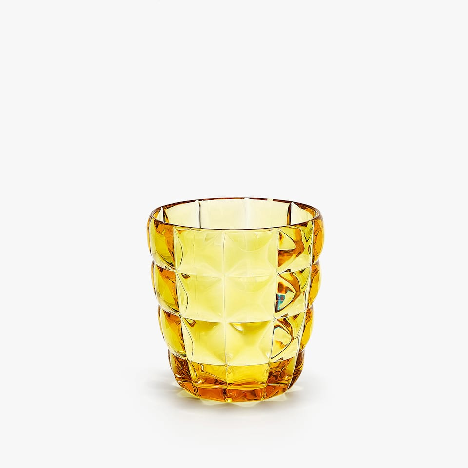 RAISED SQUARE DESIGN ACRYLIC TUMBLER