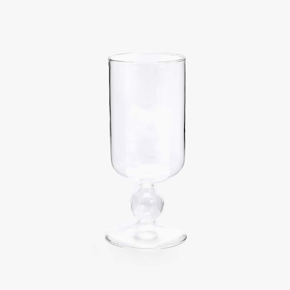 BOROSILICATE WINE GLASS WITH SPHERES