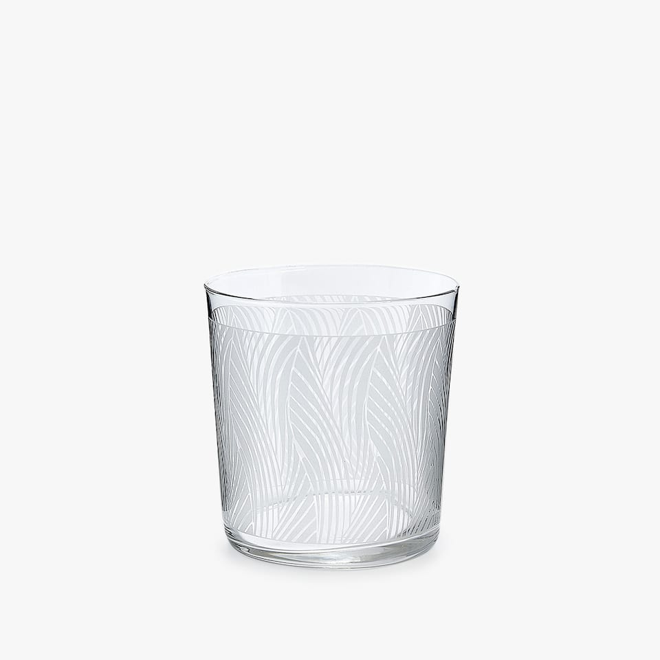 WAVY TRANSFER GLASS TUMBLER