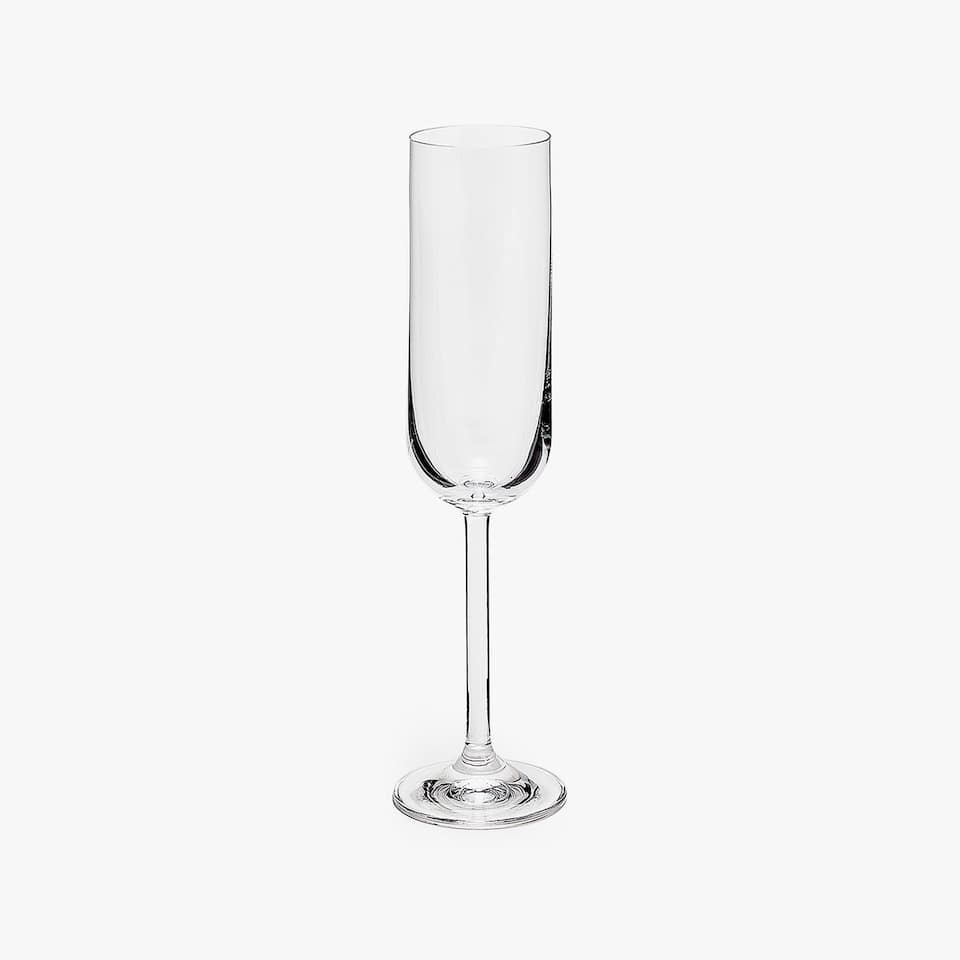 ROUNDED CRYSTALLINE CHAMPAGNE FLUTE