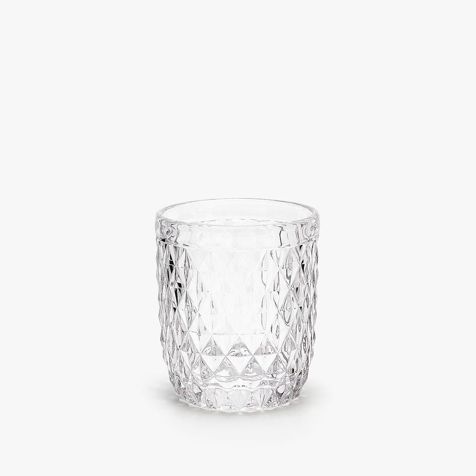 RAISED DIAMOND DESIGN TUMBLER