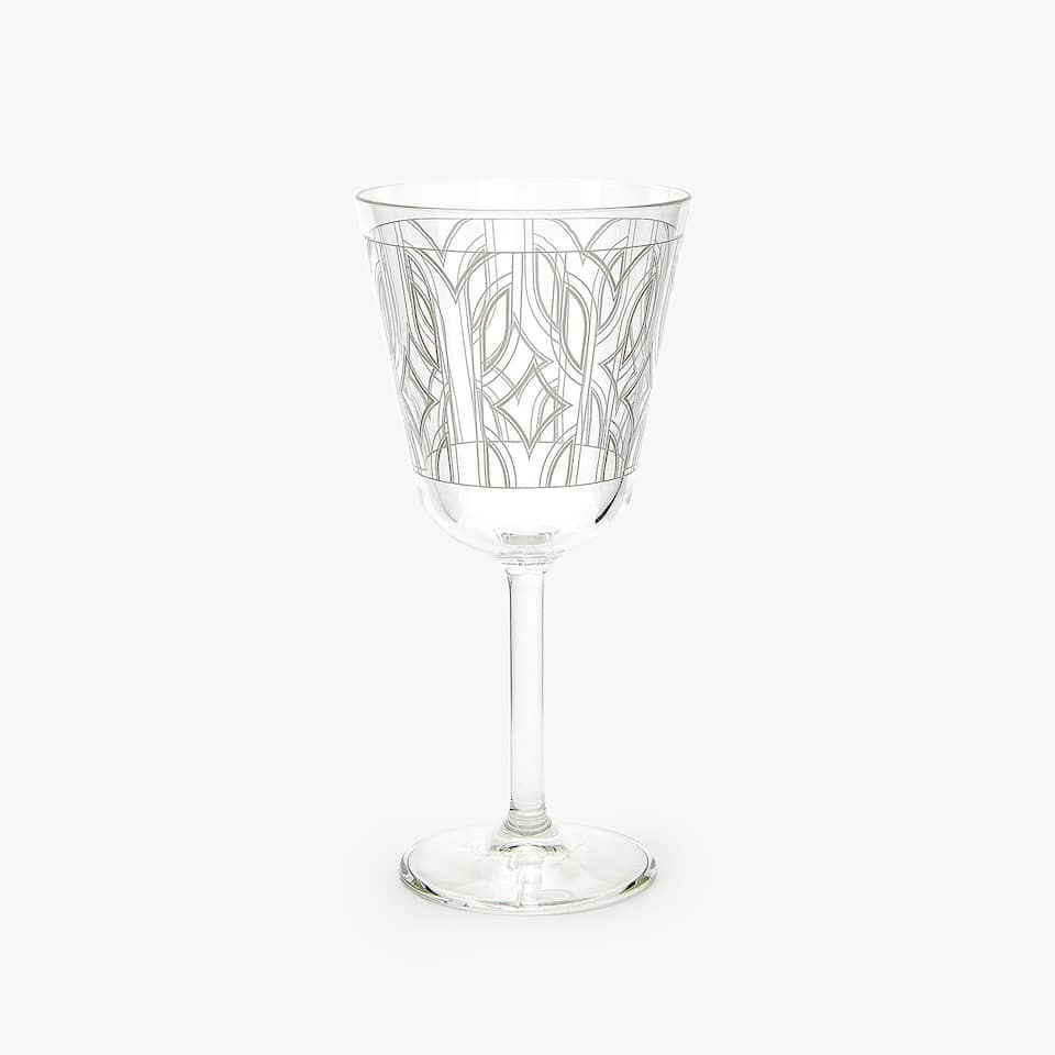 GEOMETRIC TRANSFER WINE GLASS