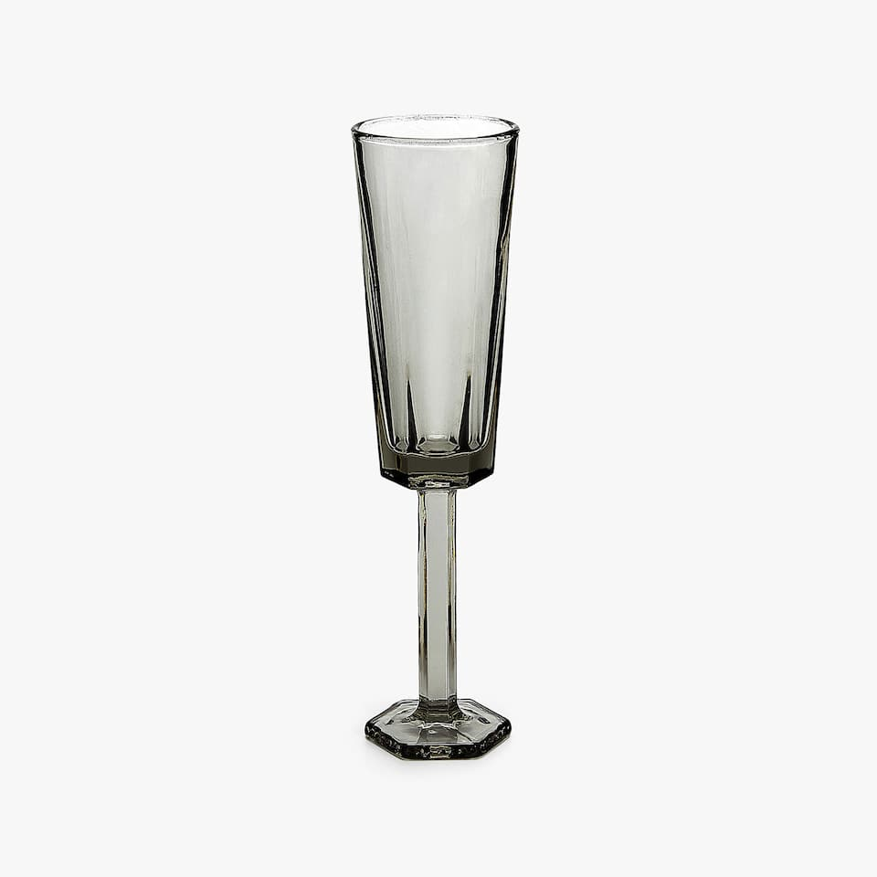 GREY HEXAGONAL WINE GLASS