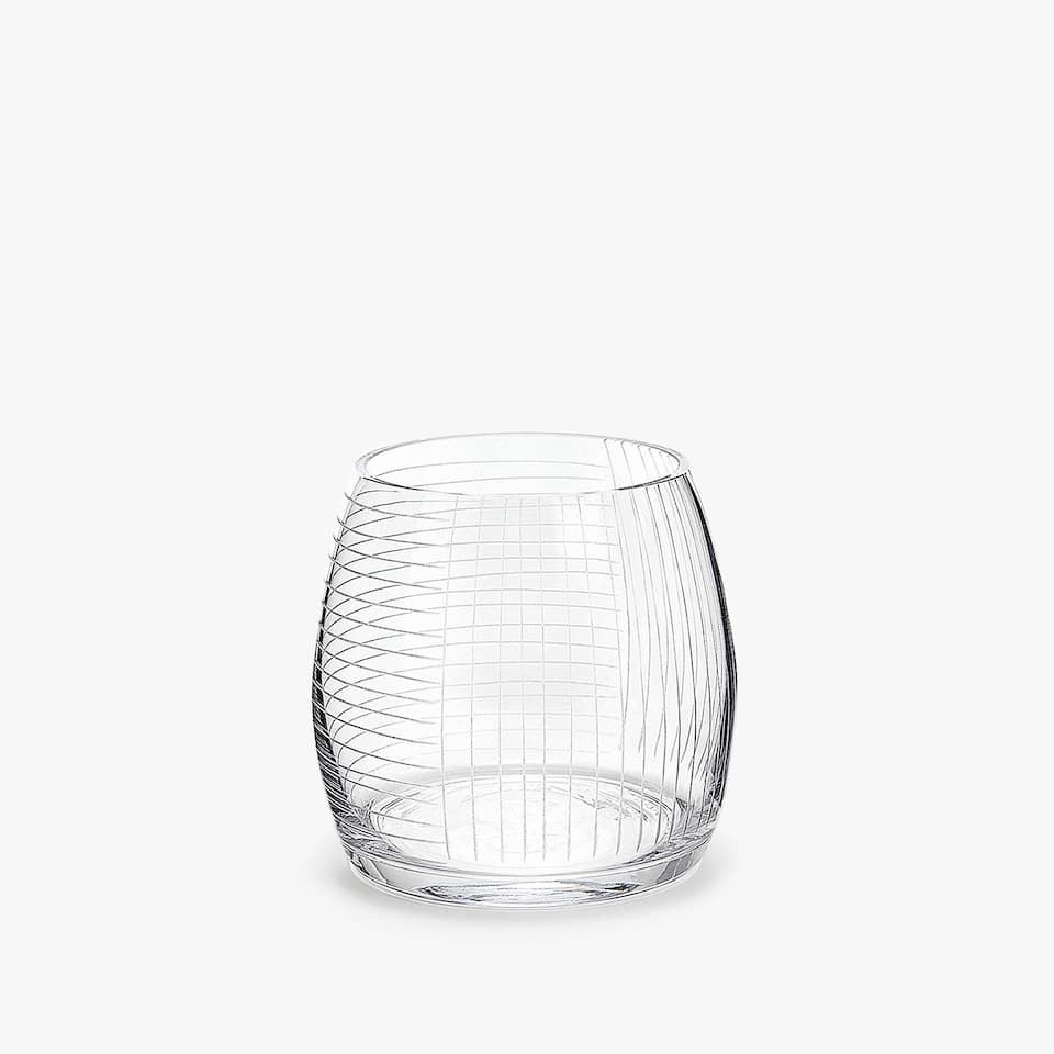 ENGRAVED GRID TUMBLER