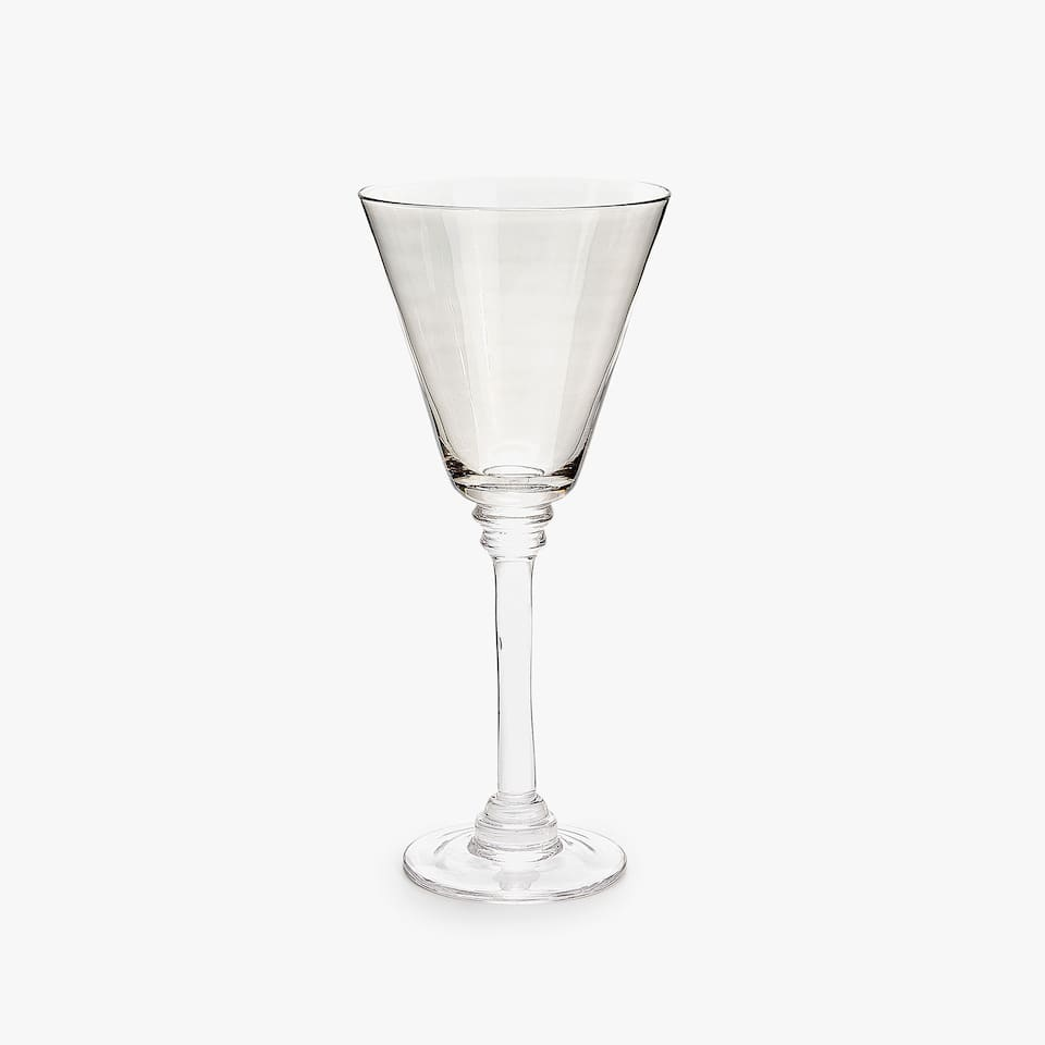 GREY SHINY WINE GLASS
