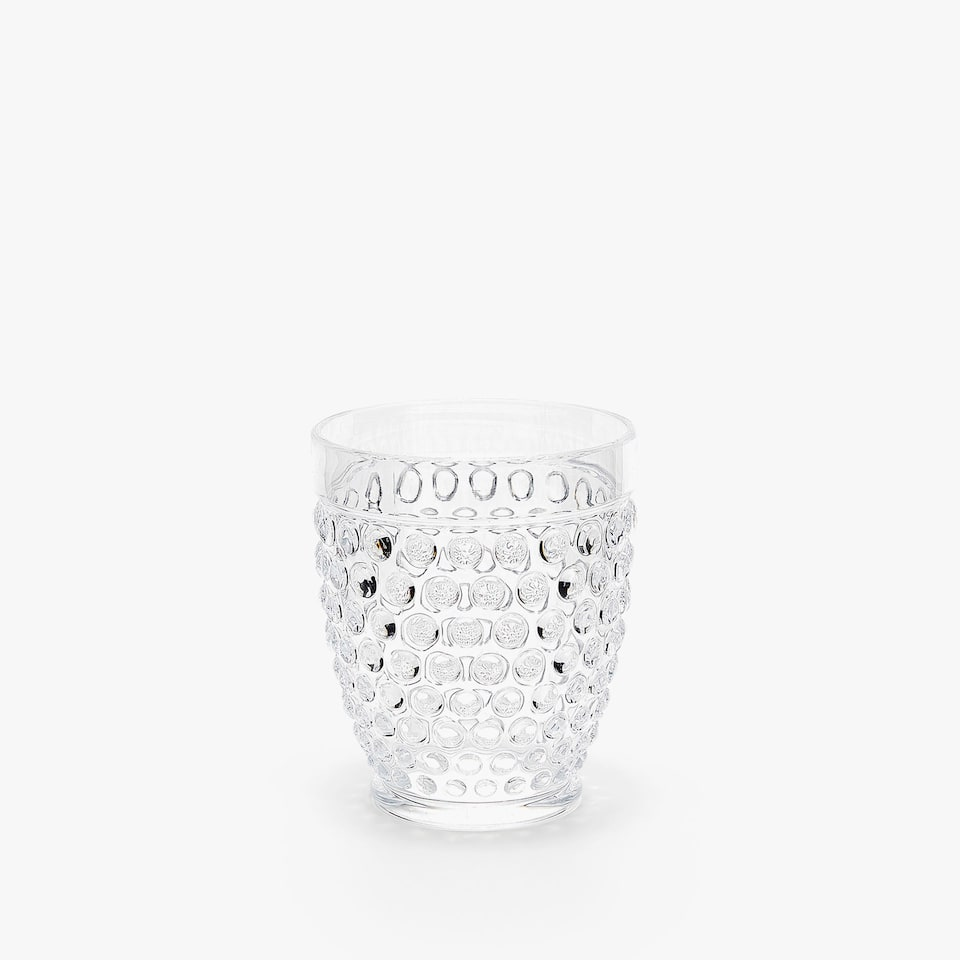 ACRYLIC TUMBLER WITH RAISED DOTS