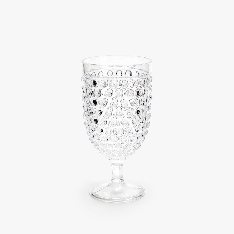 RAISED DOTS WINE GLASS