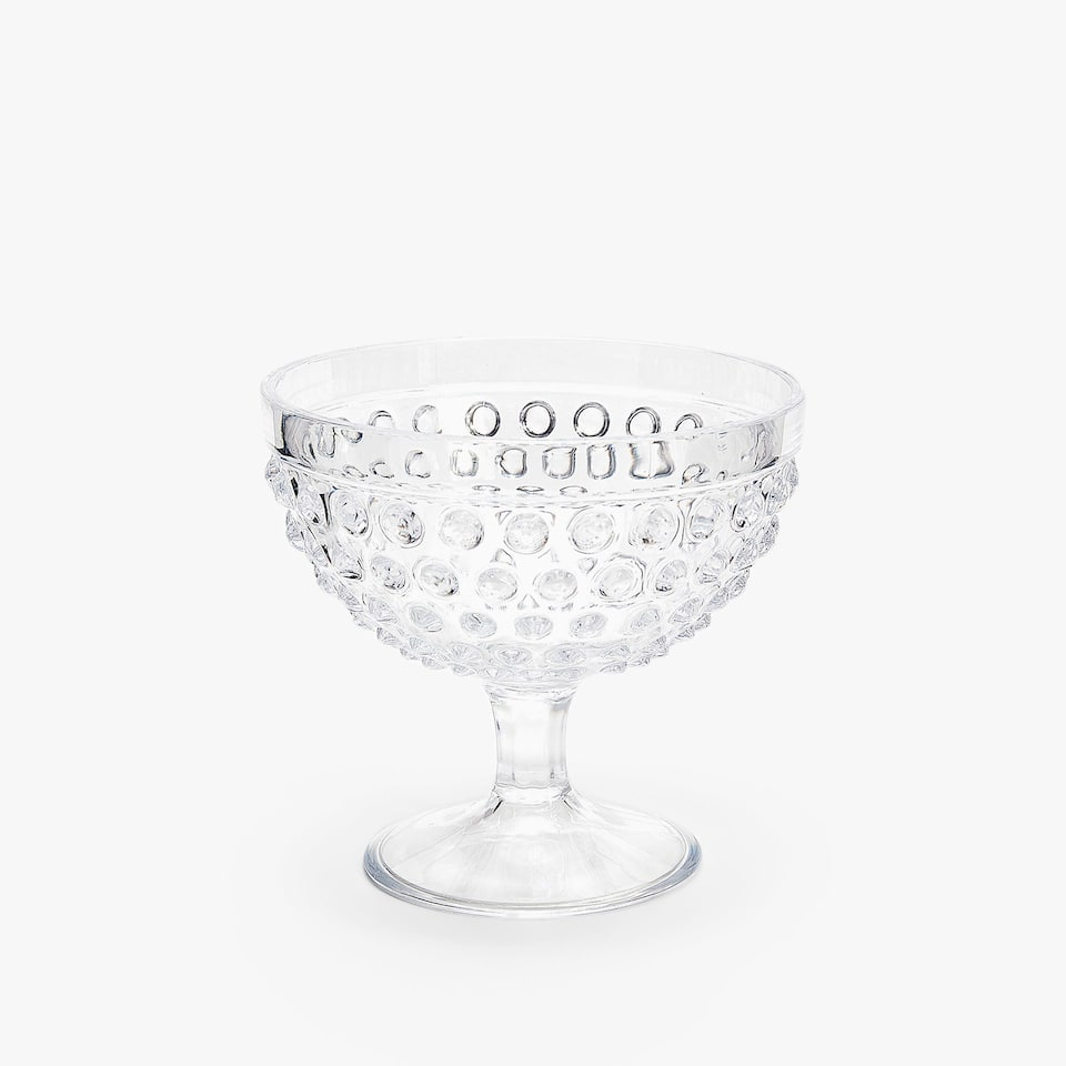 ACRYLIC ICE-CREAM CUP WITH RAISED DOTS