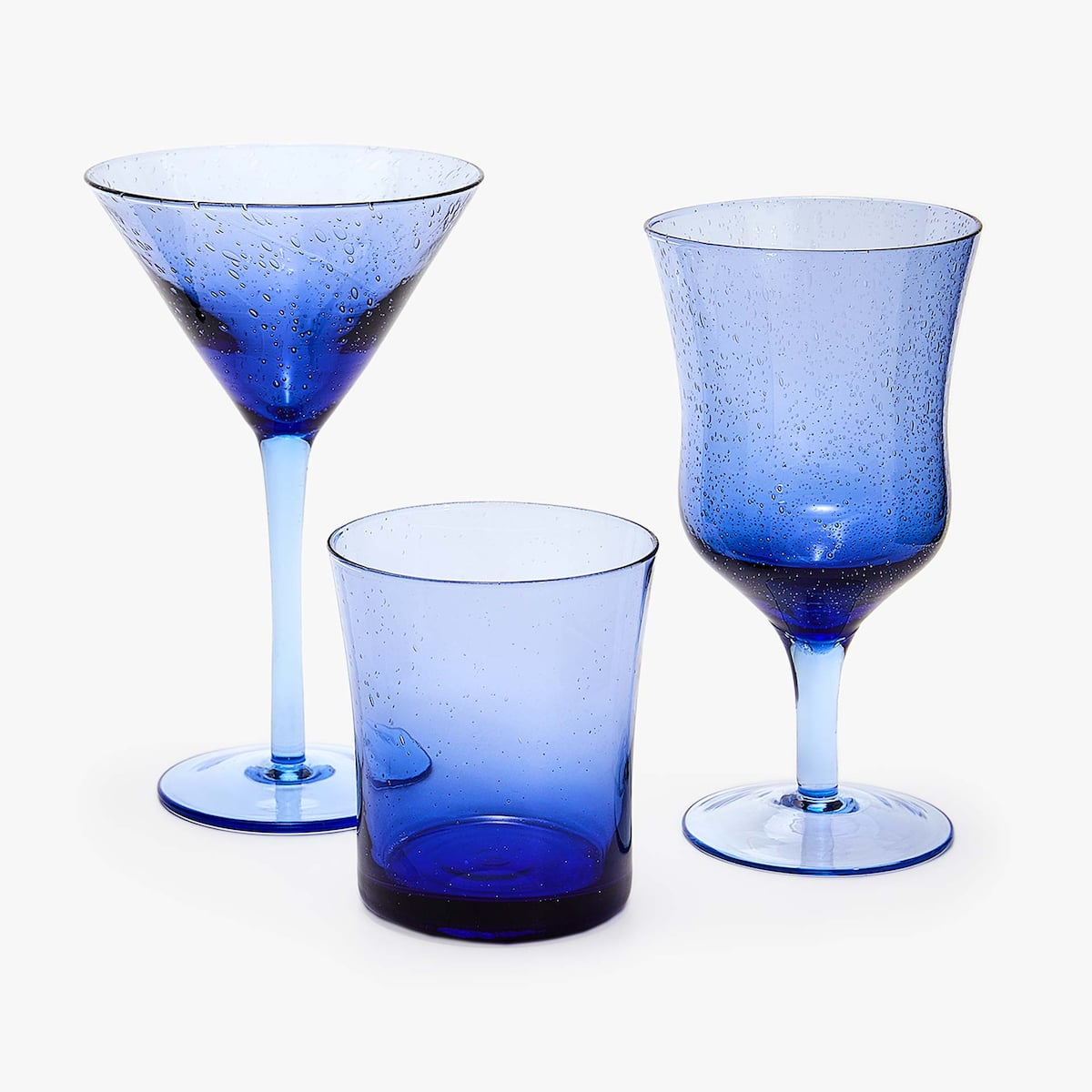 + Image 5 Of The Product BLUE BUBBLES EFFECT MARTINI GLASS