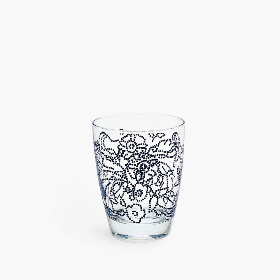 RAISED DOTS FLORAL TUMBLER