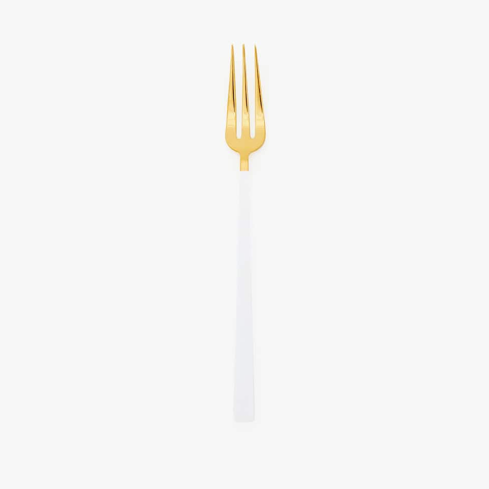 TWO-TONE GOLD AND WHITE FORK