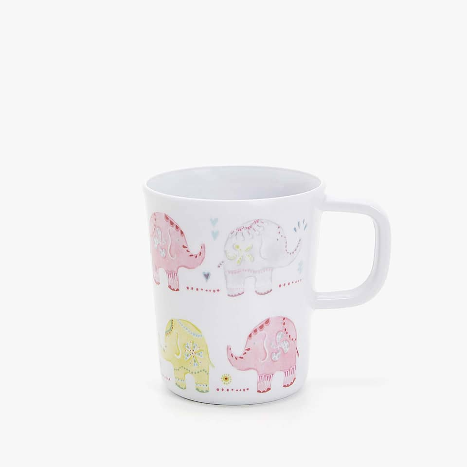 MULTICOLOURED ELEPHANTS MUG