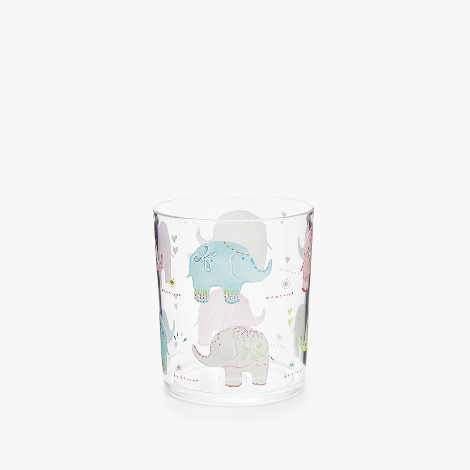 MULTICOLOURED ELEPHANTS TUMBLER