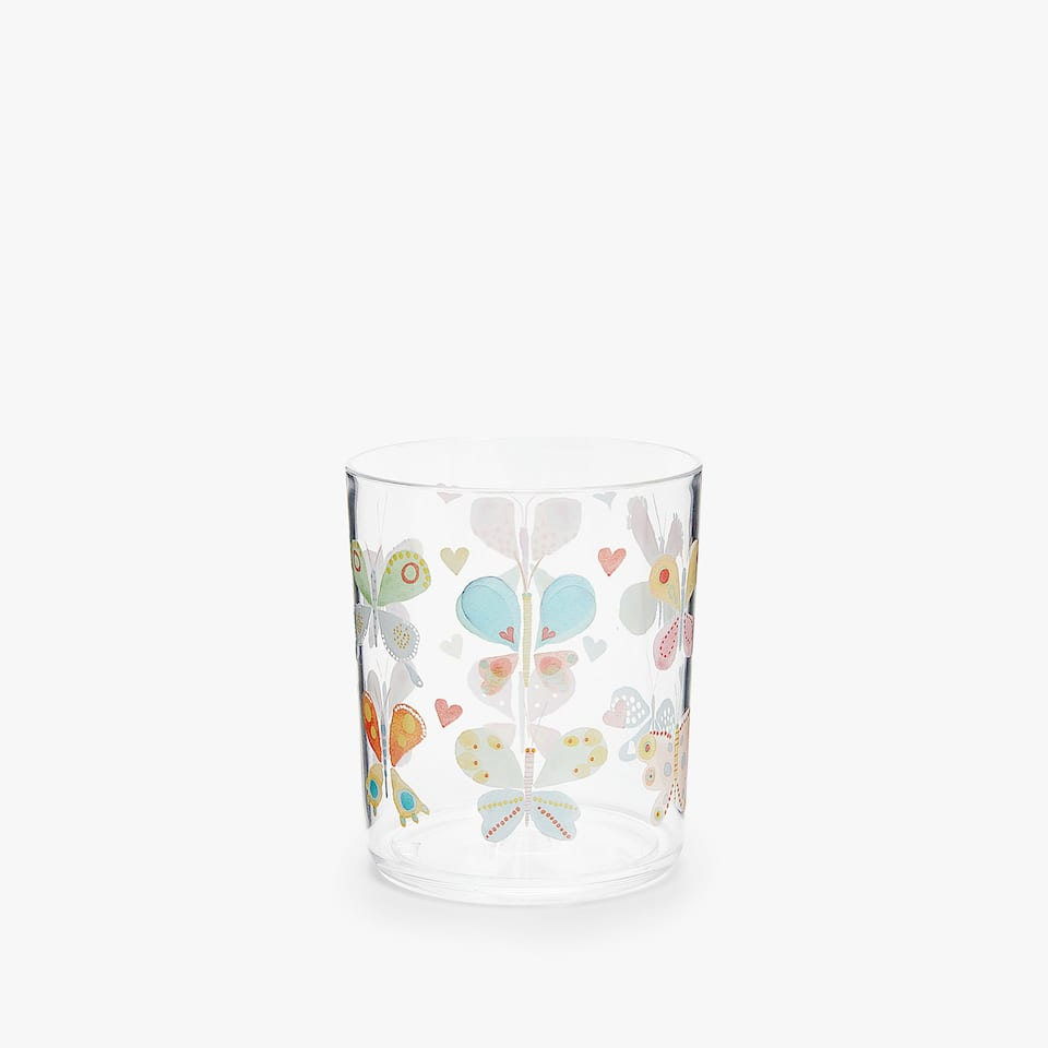 WATERCOLOUR BUTTERFLIES TUMBLER