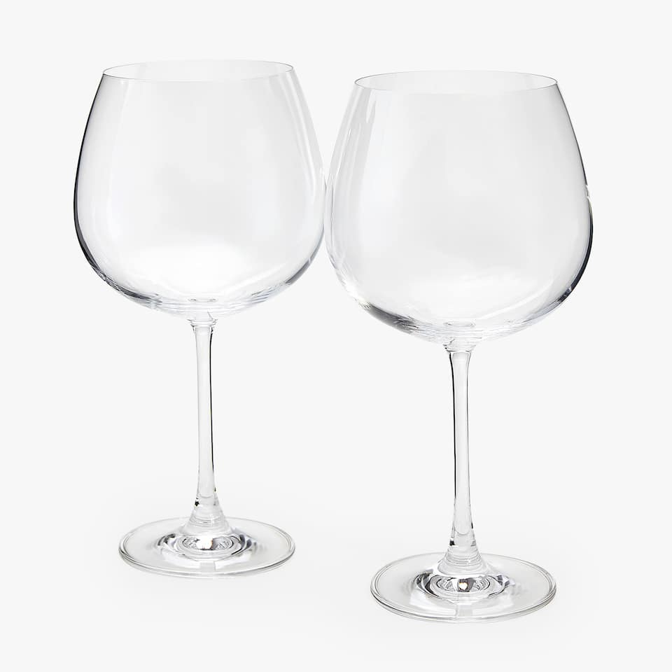 CRYSTALLINE BURGUNDY WINE GLASS (SET OF 2)