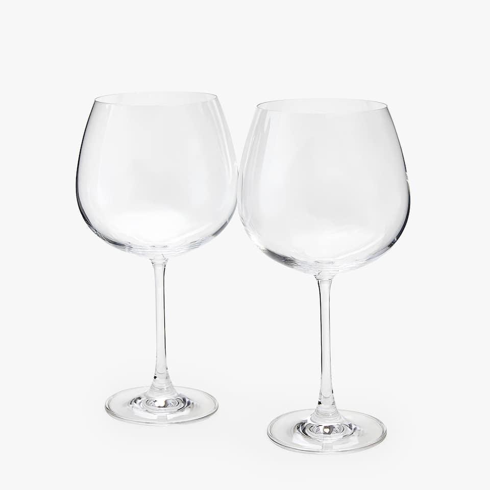 BURGUNDERGLAS AUS CRYSTALLINE-GLAS (2ER-SET)