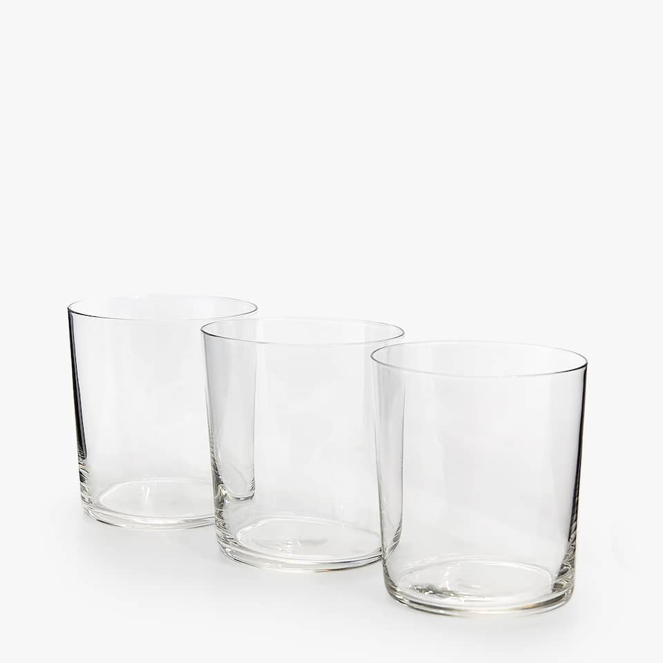 GLASS WATER TUMBLER (SET OF 3)