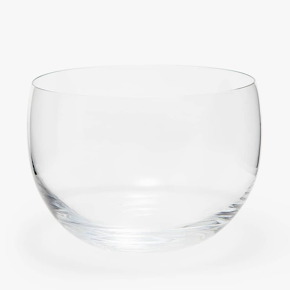 TRANSPARENT GLASS SALAD BOWL
