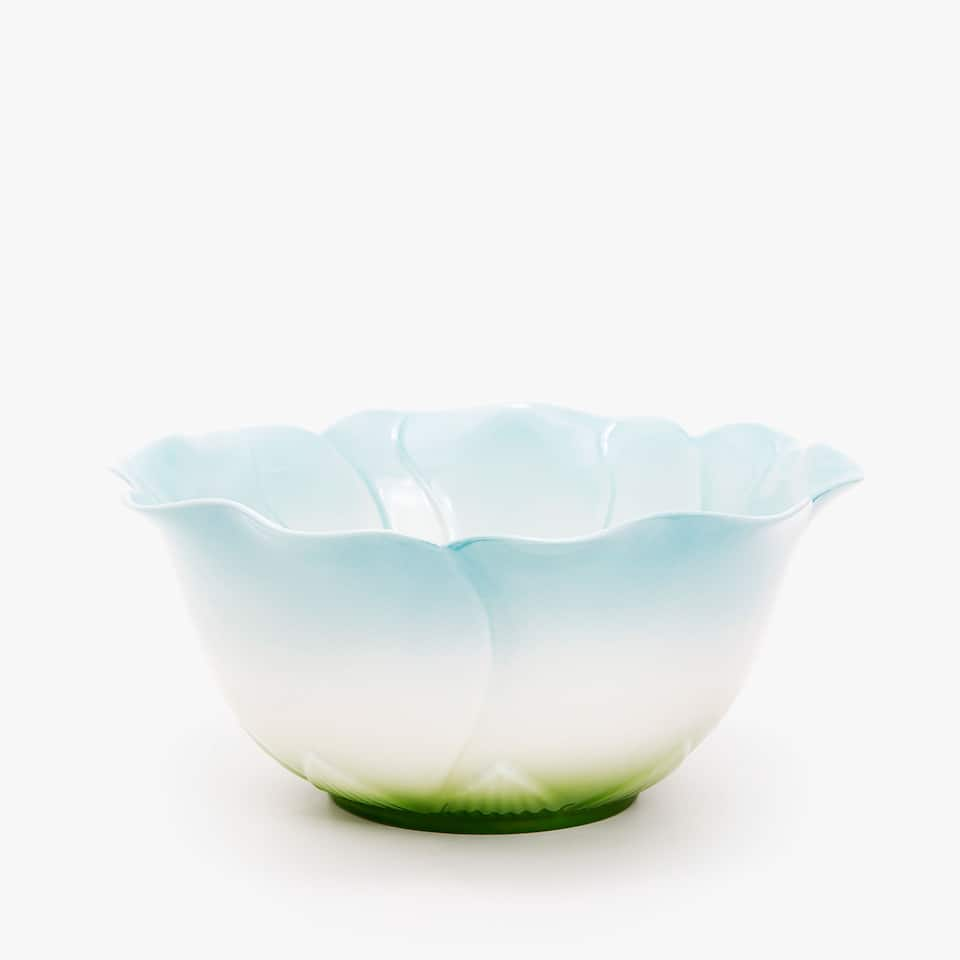 PORCELAIN FLOWER SALAD BOWL
