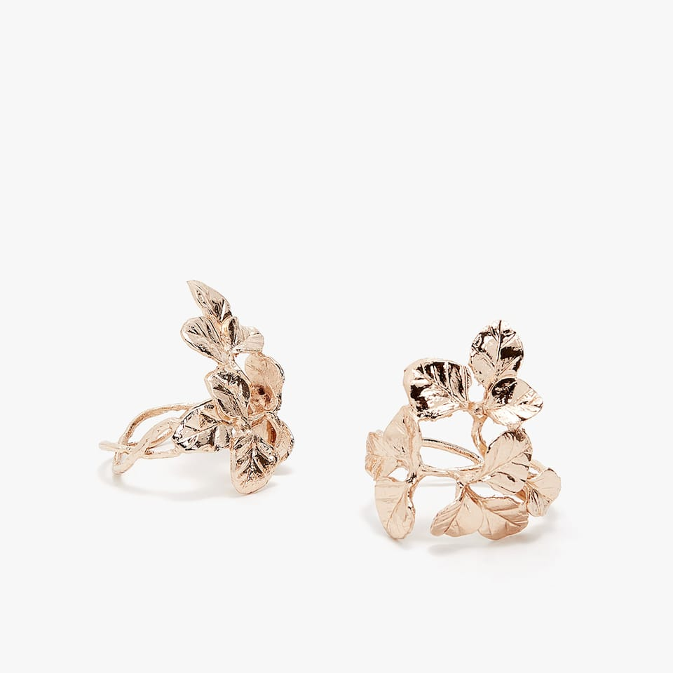 GOLDEN LEAVES NAPKIN RING (SET OF 2)