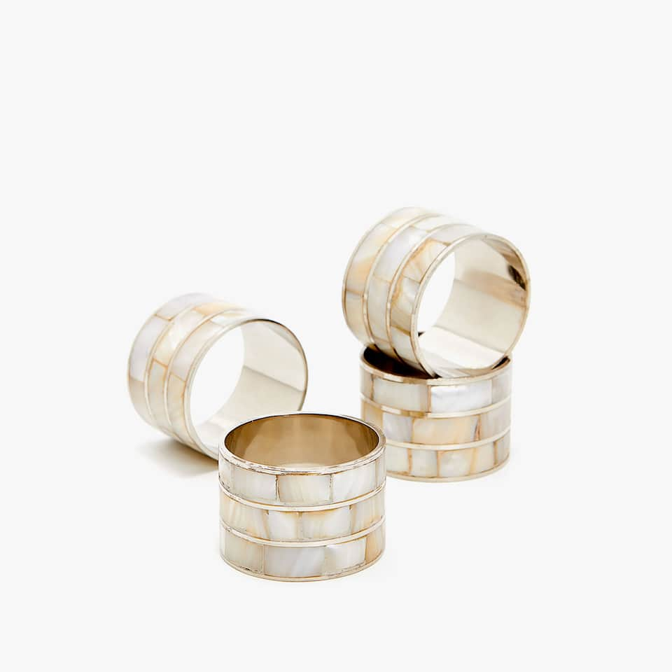 MOTHER-OF-PEARL NAPKIN RING (SET OF 4)