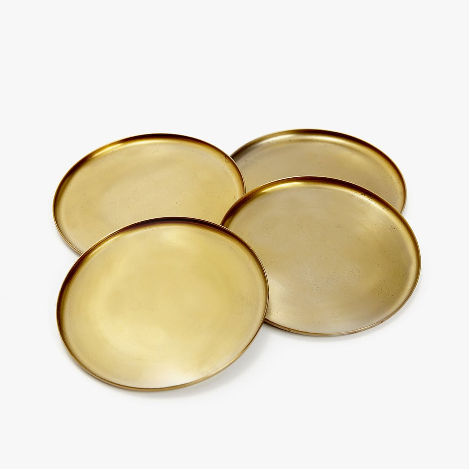 MATTE GOLD COASTERS (SET OF 4)