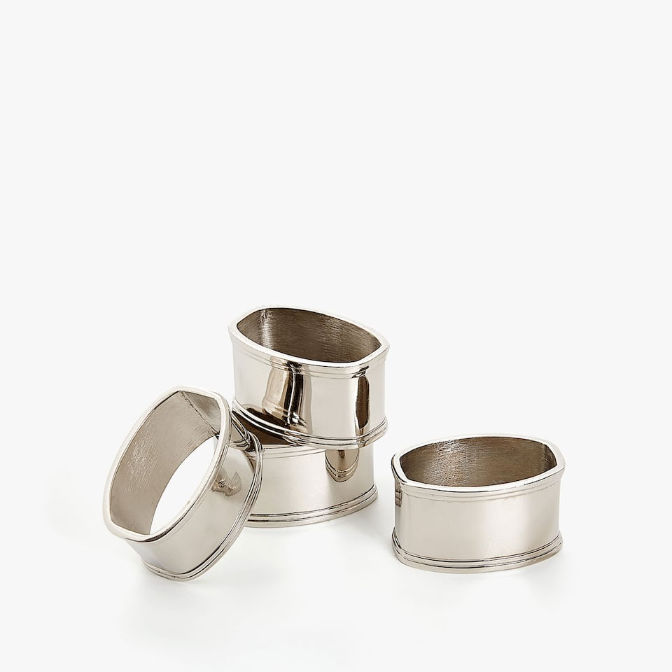 SILVER NAPKIN RING (SET OF 4)