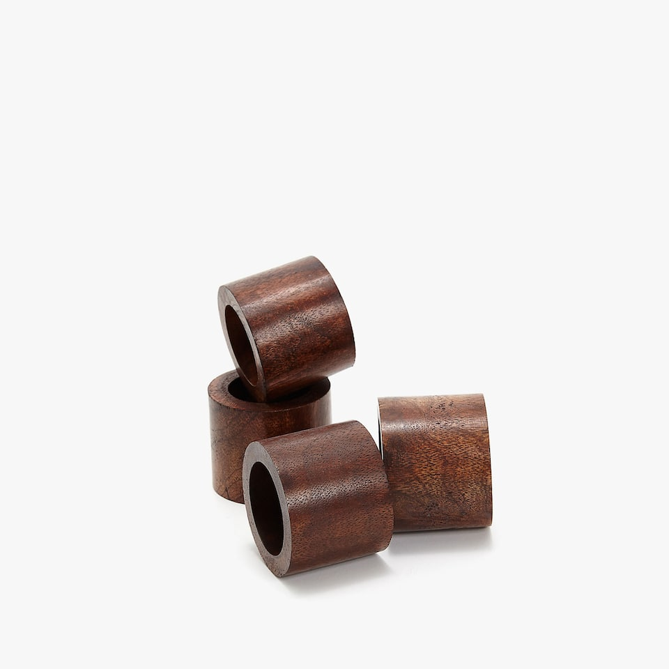 WOODEN NAPKIN RING (SET OF 4)