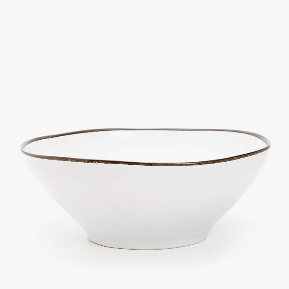 SALAD BOWL WITH CONTRASTING EDGE