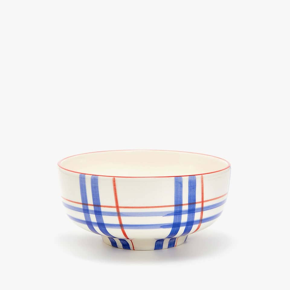 BOWL WITH TWO-TONE LINES
